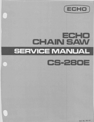 Echo CS-280E downloadable pdf Service and Repair Manual