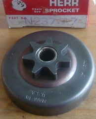 montgomery ward, john deere, and remington chainsaw herr 3/8-7 spur sprocket drum n237-a7