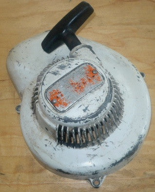 stihl ts-360 avs cut off saw starter recoil cover and pulley assembly