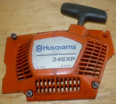 husqvarna 346xp chainsaw complete starter recoil cover and pulley assembly