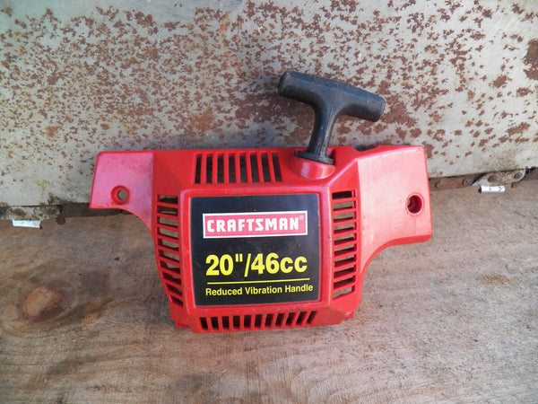 Craftsman 20 U0026quot  46cc Chainsaw Complete Starter  Recoil And Pulley Assembl