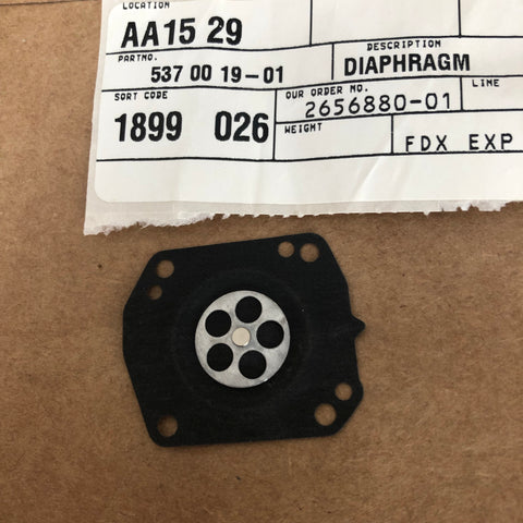 Husqvarna 371 K Power Cutter Diaphragm NEW 537 00 19-01 (H-0014)