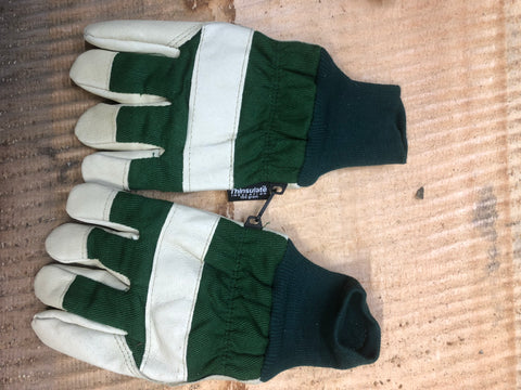 Green Thinsulate Winter Loggers Gloves