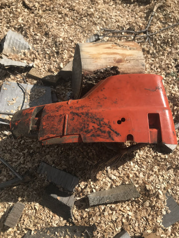 Husqvarna 575 xp, 570 576xp chainsaw top cover shroud type 1 (HD type) #2