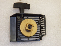 mcculloch pro mac 610, 605, 605, 3.7 timber bear chainsaw complete starter recoil cover and pulley assembly