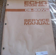 Echo CS500VL Chainsaw downloadable pdf Service and Repair Manual