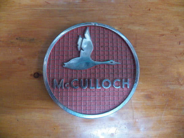 Free Repair Manuals >> Antique Mcculloch Chainsaw Chrome and Red Goose Badge ...