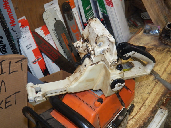 Stihl Ms440 Chainsaw Fuel Tank Housing Trigger Handle