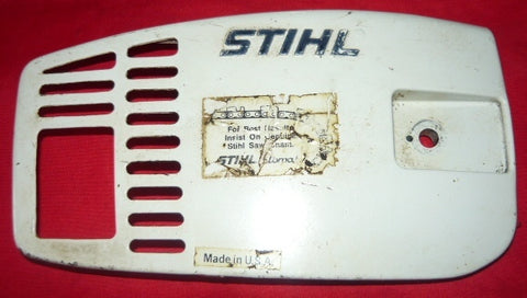 stihl 015 chainsaw clutch side cover #2