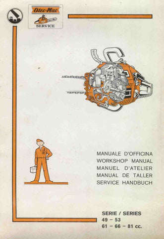 Oleo-Mac Olympic Chainsaw Workshop downloadable pdf Service and Repair Manual