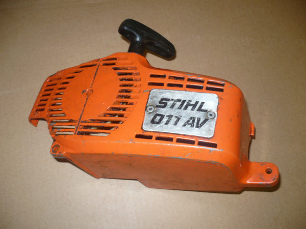 Free Repair Manuals >> stihl 011 av chainsaw starter recoil cover and pulley ...