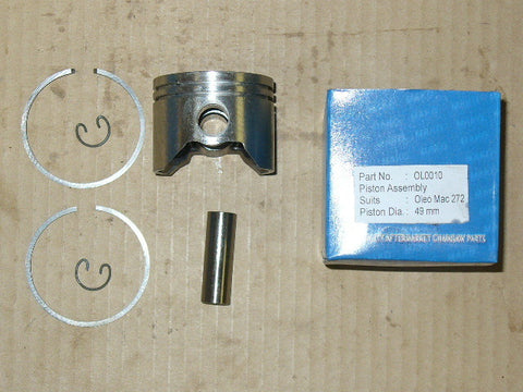 Olympic Olympyk 272 chainsaw piston assembly 49mm OL0010 (Box G)