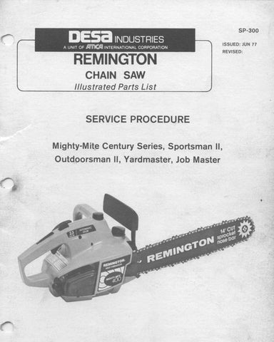 Remington Late Model Mighty Mite Chainsaw Workshop downloadable pdf Service and Repair Manual