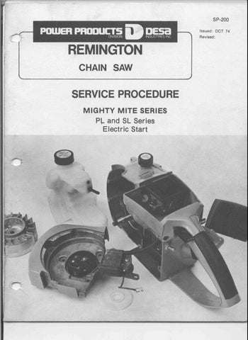 Remington Chainsaw Workshop downloadable pdf Service and Repair Manual