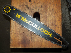 "14"" 3/8 mini Pitch Mcculloch Chainsaw Bar and Chain USED"