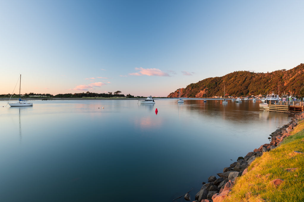 Afternoon light on the Whakatane River, Whakatane