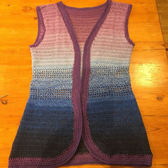 Crocheted waistcoat from Schjeepes Whirl