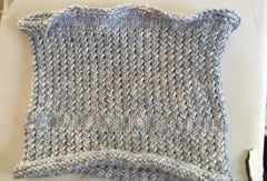 Grey Cowl knitted by Claire