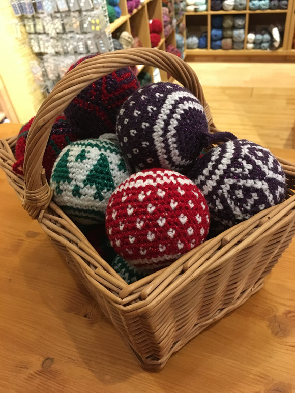 Crochet Christmas Baubles Workshop - Tuesday 24th September - Evening