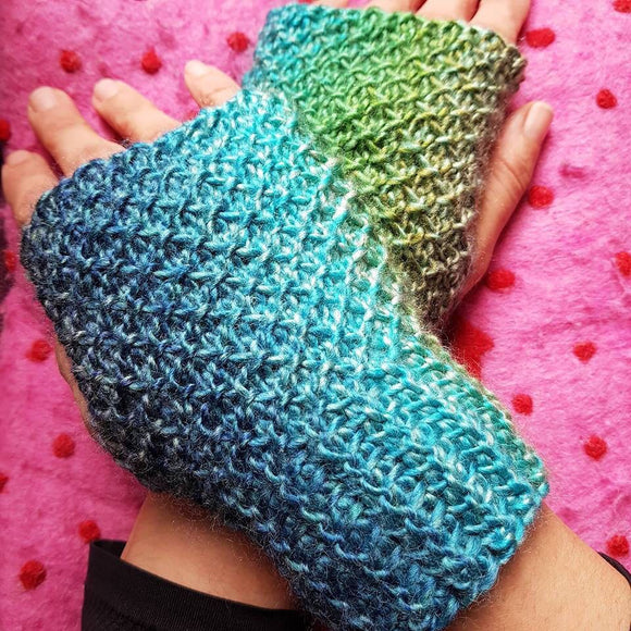 Tunisian Crochet Mitts - 1st October 2019