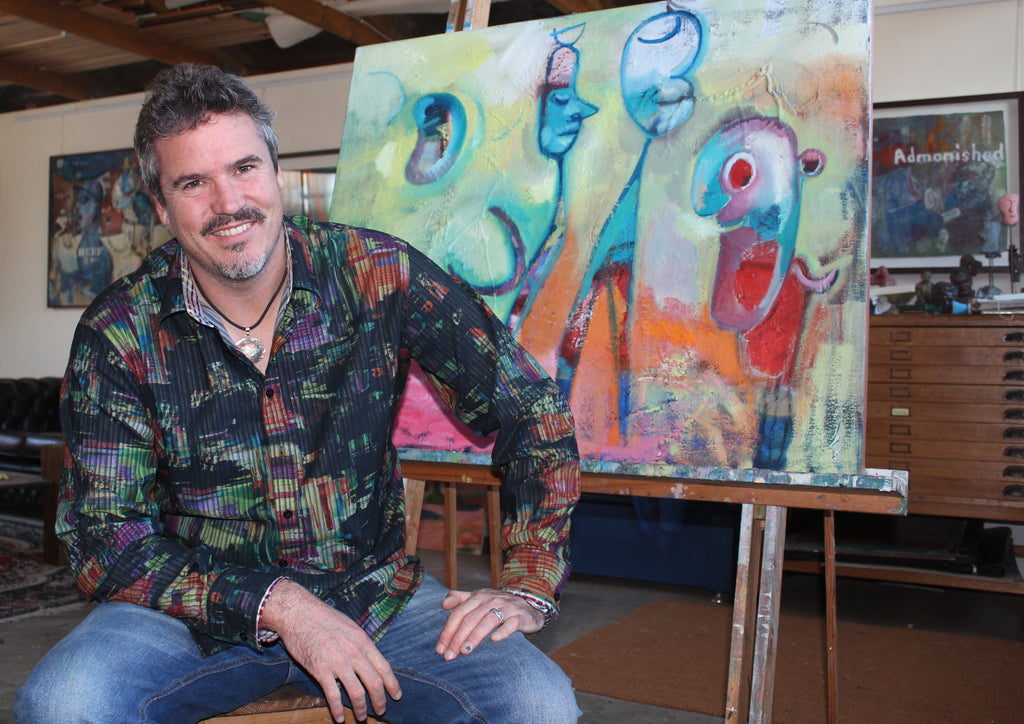 Fremantle Artist Michael Knight in residence at Domaine Cellar Door