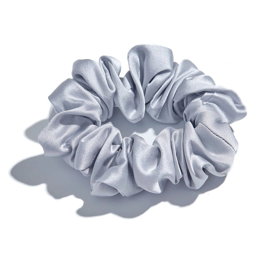 Sliver Silk Hair Scrunchies