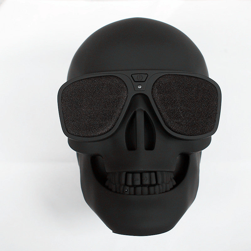 Matte Black Wireless Skull Bluetooth Speaker with NFC