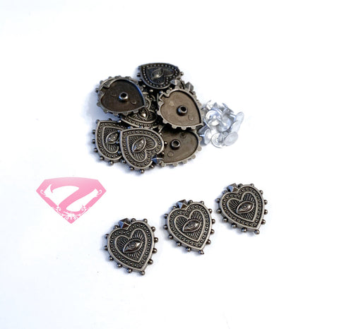 Hardware - Heart Shaped Box Rivets