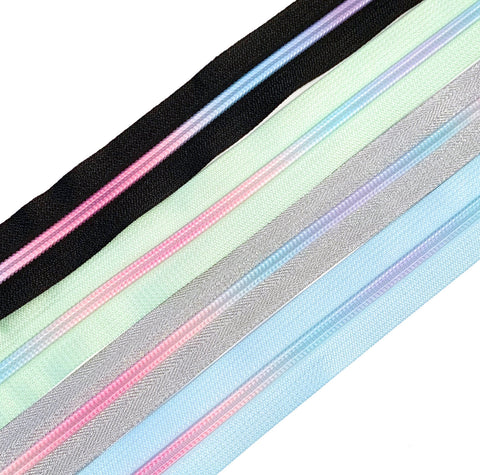 Hardware - Pastel Pop Nylon Zipper Tape #5 Collection