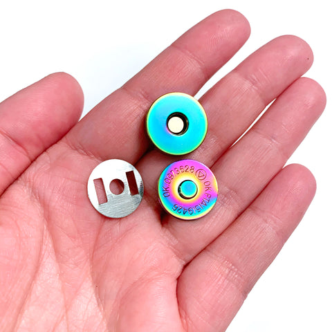 Hardware - Rainbow Magnetic Snaps 18mm