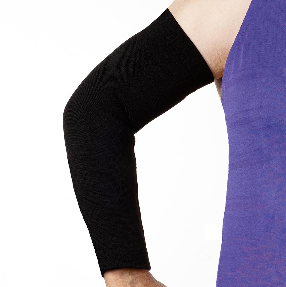 Skin tear protection showing fuller fit arm sleeves