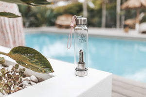crystal water bottle Australia drink smoky quartz