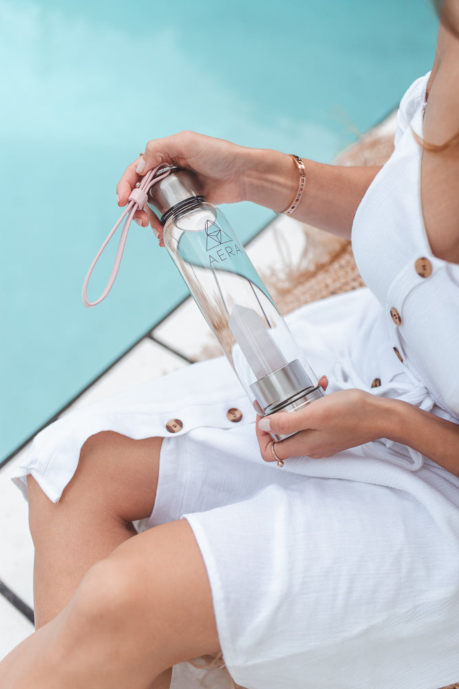 rose quartz drink crystal water bottle australia