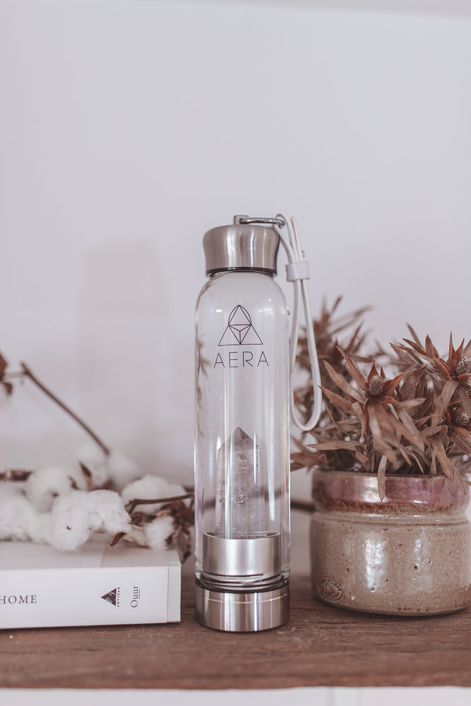 clear quartz drink crystal water bottle australia