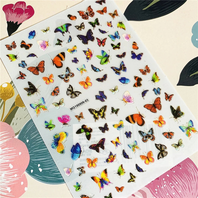 Butterfly Nail Sticker No.5