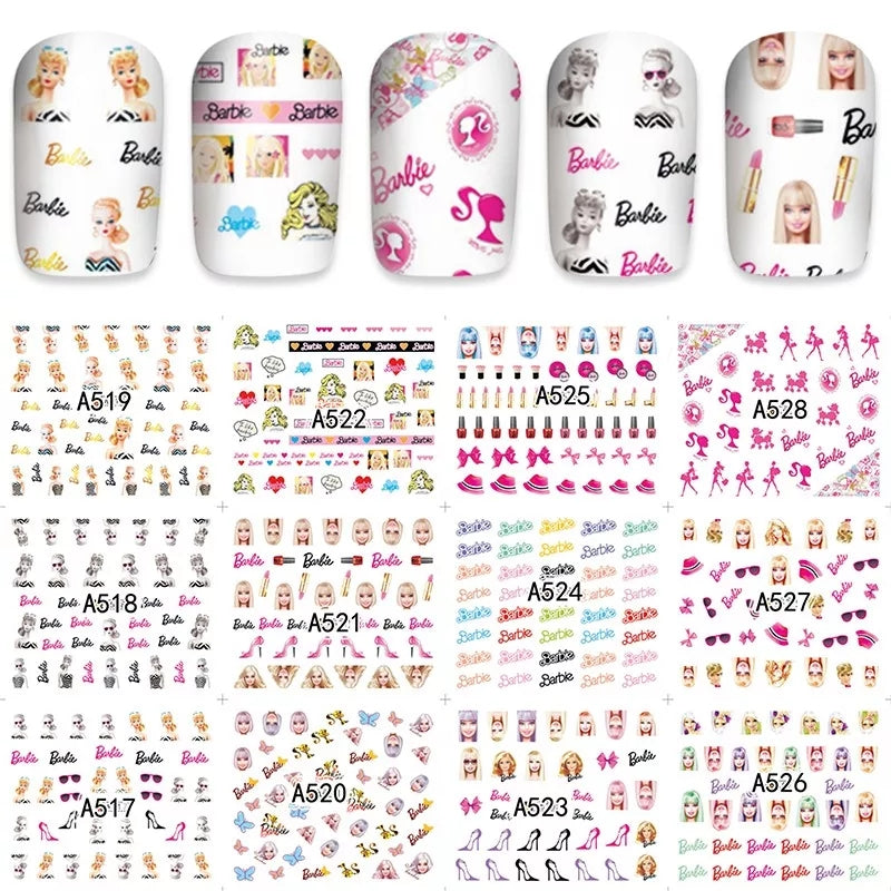 Barbie Nail Decals