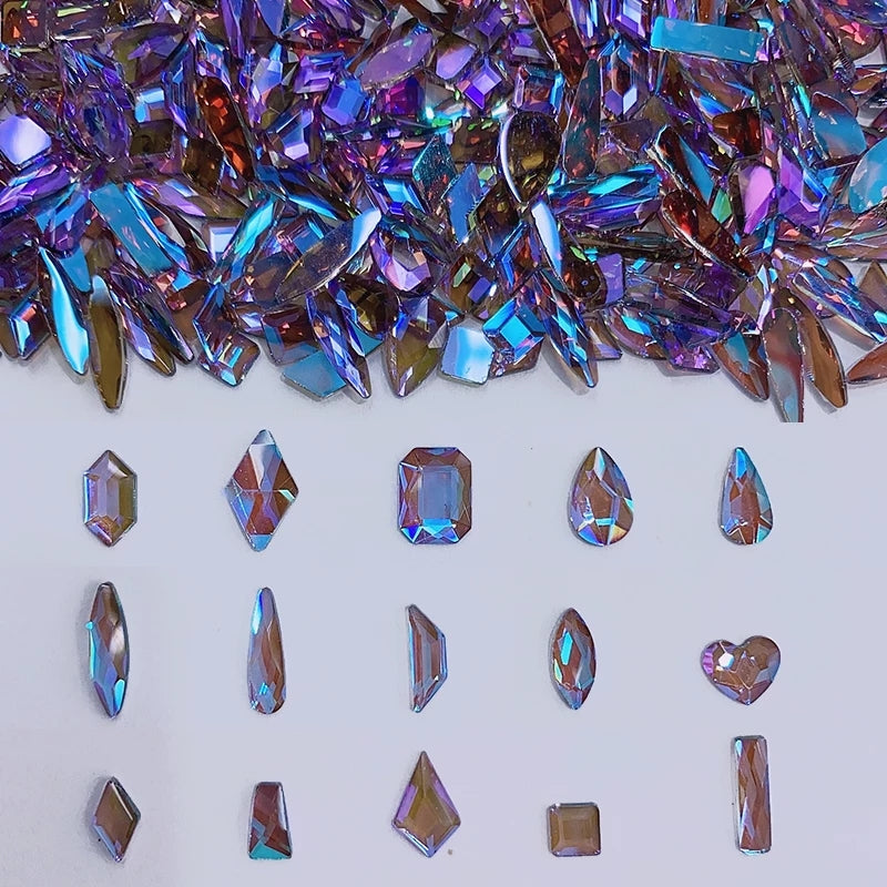 Mix Phantom Purple Nail Crystals