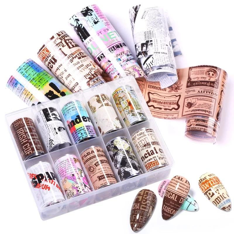 Retro Magazine Nail Foil Bundle No.3