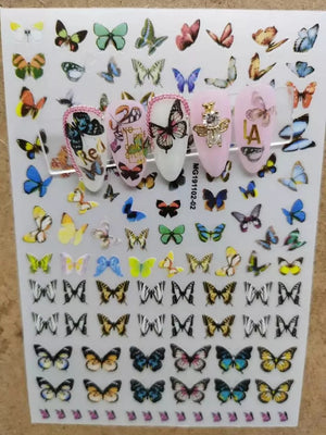 Butterfly Nail Sticker No.2