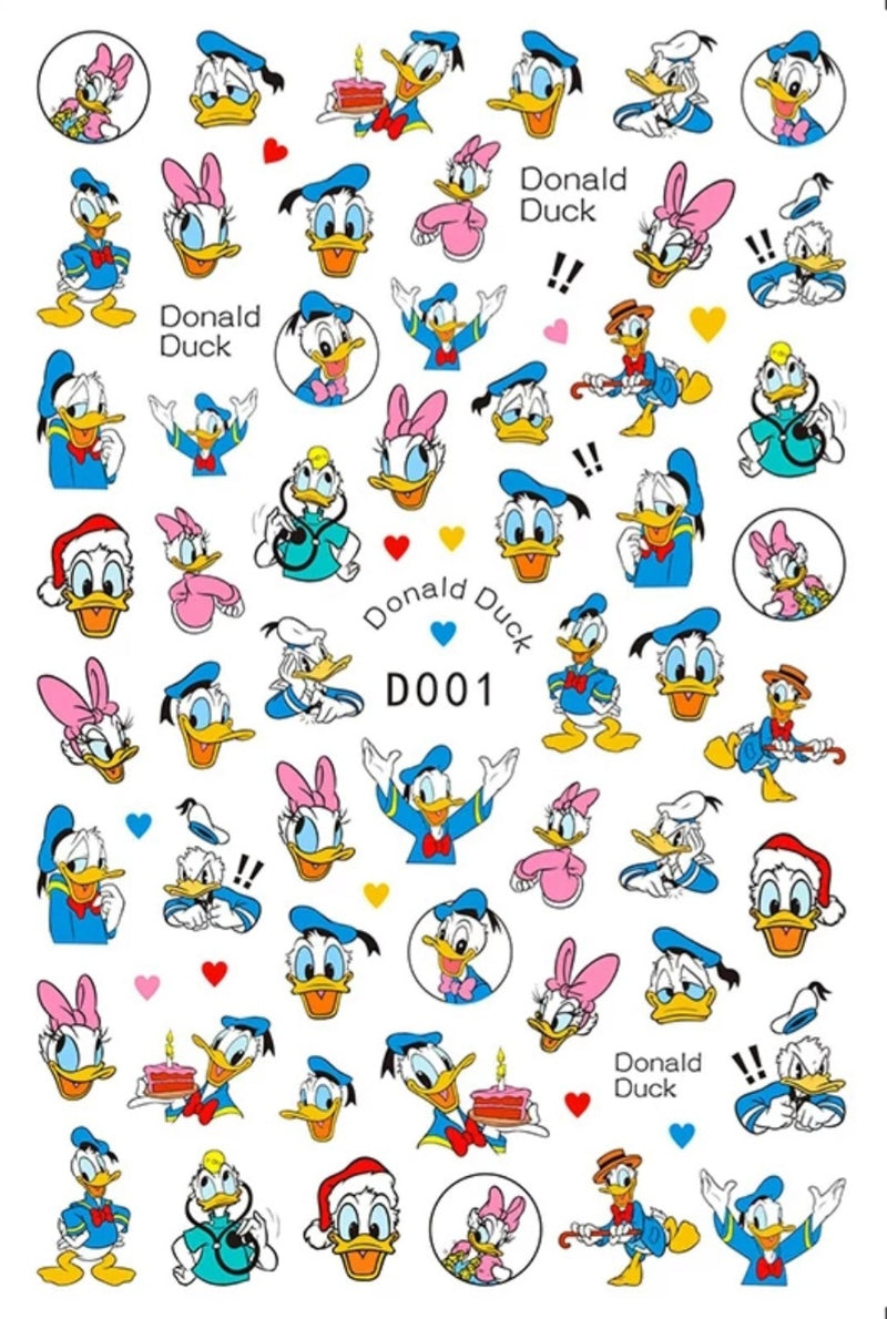 Donald Duck Nail Stickers
