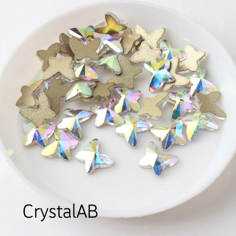 Crystal Butterfly Nail Charms
