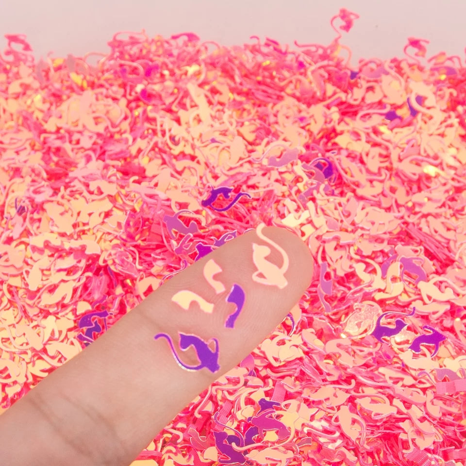 Baby Phat Hot Pink Chrome Nail Glitter