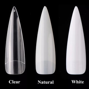 Extra Long Stiletto Acrylic Full Coverage Nails 500pcs