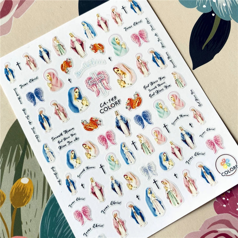 Pastel Mary Nail Stickers