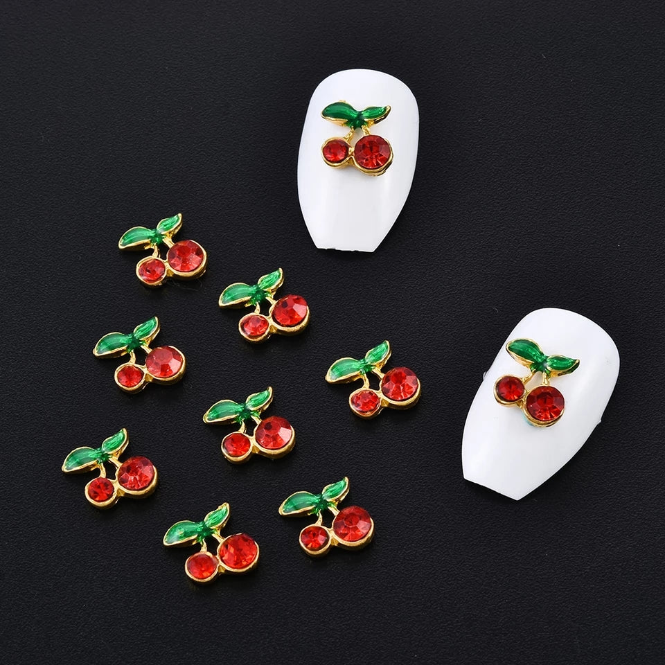 Large Cherry Nail Charms