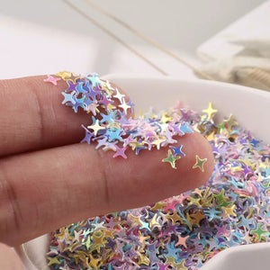Rainbow Chrome Galaxy Stars Nail Glitter