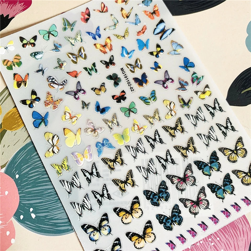 Butterfly Nail Stickers No.2
