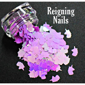 Purple Chrome Unicorn Nail Glitter
