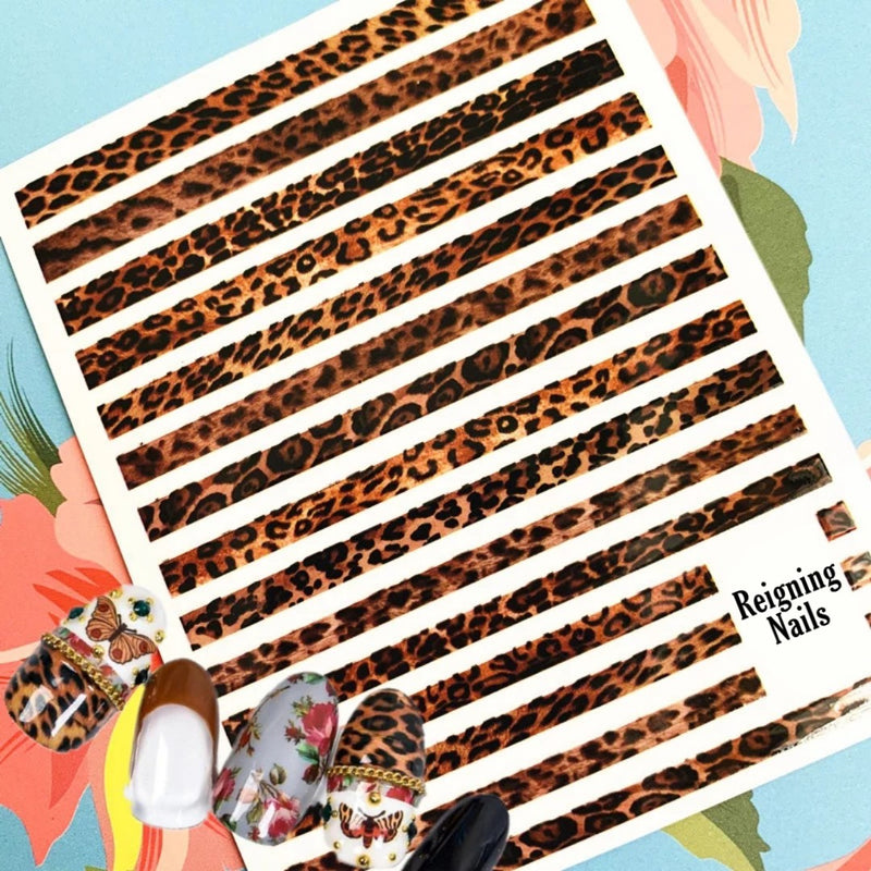 Animal Print Nail Stickers