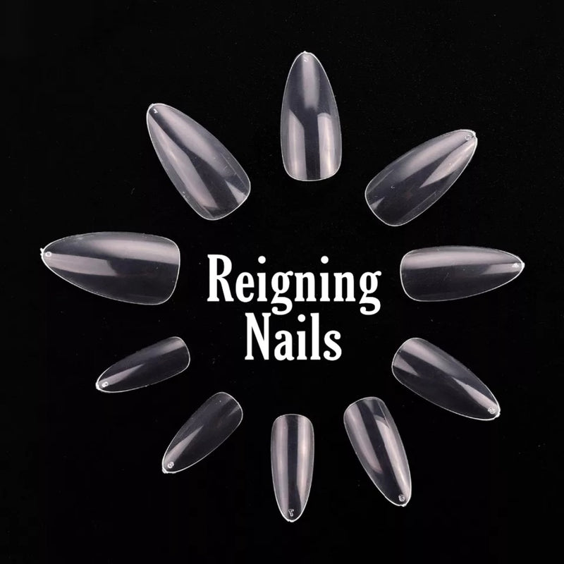 Short Stiletto Acrylic Full Coverage Nails 500pcs